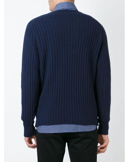 Ribbed Sweater MP MASSIMO PIOMBO                                                                                                              синий цвет