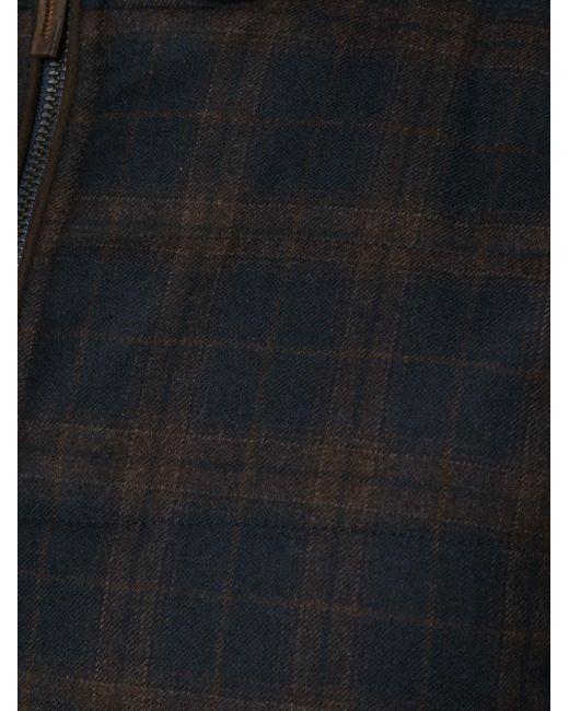 Check Print Zip Vest MAURIZIO BALDASSARI                                                                                                              синий цвет