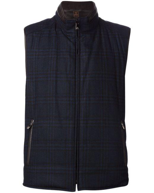 Reversible Zip Vest Corneliani                                                                                                              синий цвет