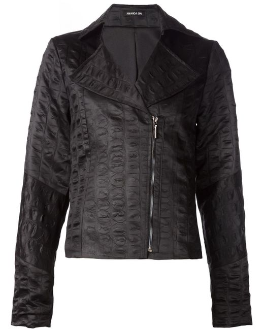 Байкерская Куртка Lydia AMANDA SHI                                                                                                              чёрный цвет