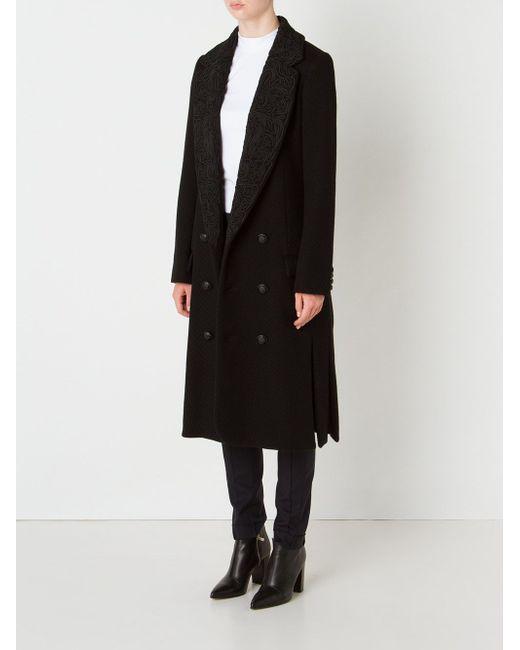 Brocade Collar Coat Julien David                                                                                                              чёрный цвет