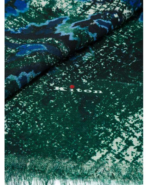 Шарф С Принтом Kiton                                                                                                              зелёный цвет