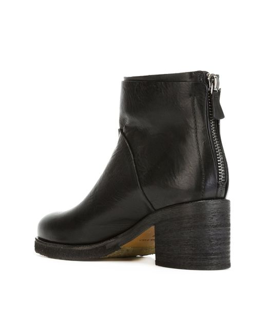 Ботинки По Щиколотку На Молнии Roberto Del Carlo                                                                                                              чёрный цвет