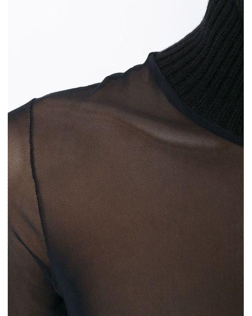Сетчатый Свитер С Отворотной Горловиной Antonio Marras                                                                                                              чёрный цвет