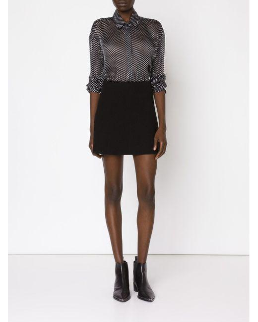 Blurred Dot Print Sheer Shirt Anthony Vaccarello                                                                                                              чёрный цвет