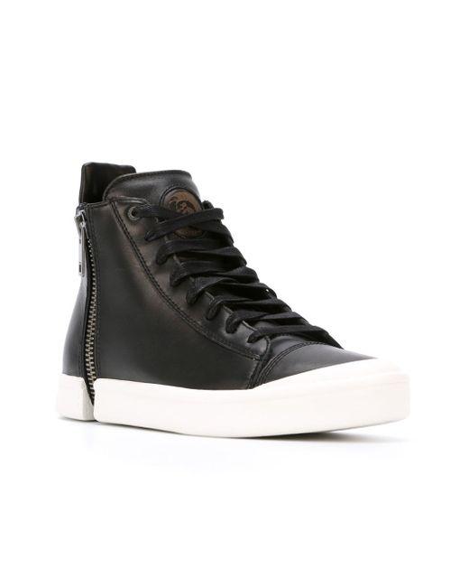Hi-Top Lace-Up Sneakers Diesel                                                                                                              чёрный цвет