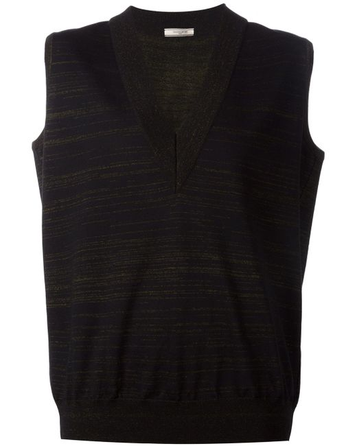 V Neck Striped Vest Bouchra Jarrar                                                                                                              чёрный цвет