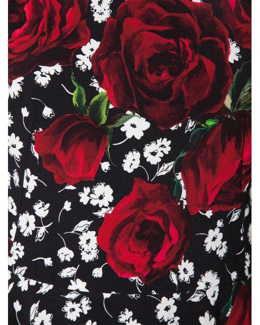 Print Dress Dolce & Gabbana                                                                                                              красный цвет