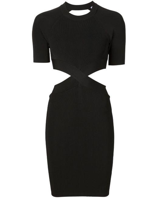 Облегающее Платье С Вырезными Деталями Alexander Wang                                                                                                              чёрный цвет