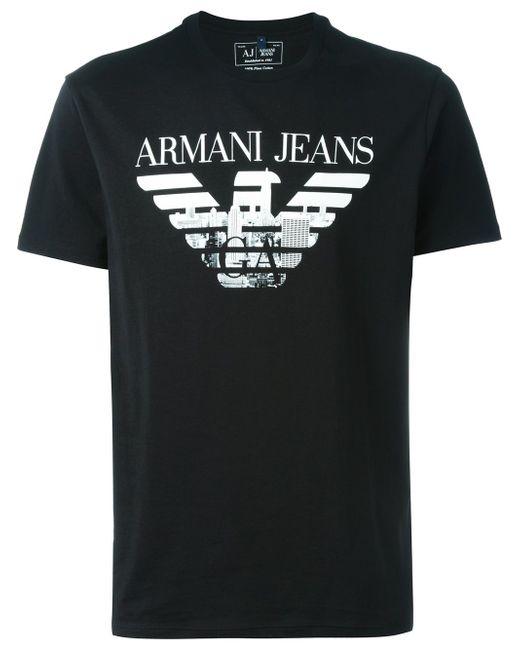 Футболка С Принтом-Логотипом ARMANI JEANS                                                                                                              чёрный цвет