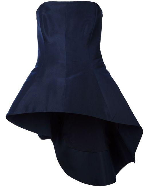 Топ Без Бретелек С Асимметричной Баской Rosie Assoulin                                                                                                              синий цвет