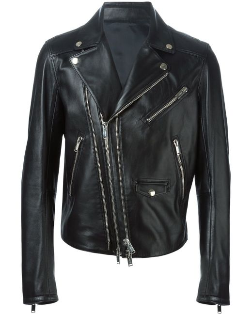 Байкерская Куртка Les Hommes                                                                                                              чёрный цвет