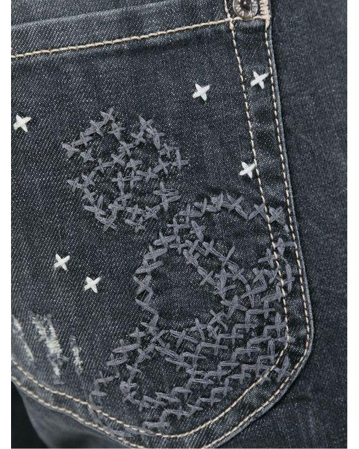 Джинсы С Вышивкой Vivienne Westwood Anglomania                                                                                                              серый цвет