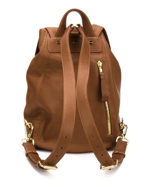 Leather Backpack VALAS                                                                                                              коричневый цвет