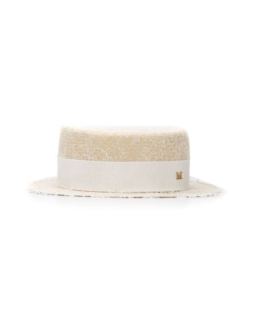 Шляпа Auguste Maison Michel                                                                                                              белый цвет