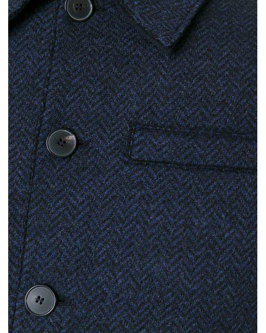 Однобортное Пальто Harris Wharf London                                                                                                              синий цвет