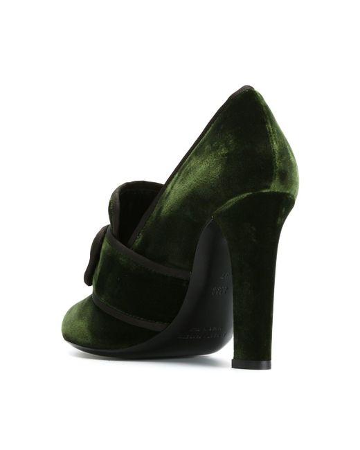 Декорированные Туфли С Пряжками Alberta Ferretti                                                                                                              зелёный цвет