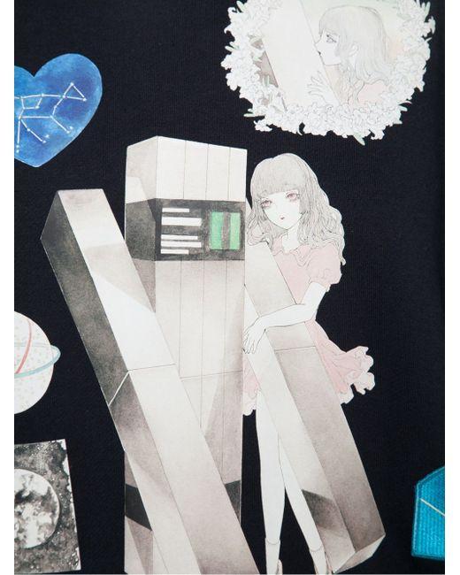 Толстовка С Кружевным Воротником Jenny Fax                                                                                                              чёрный цвет