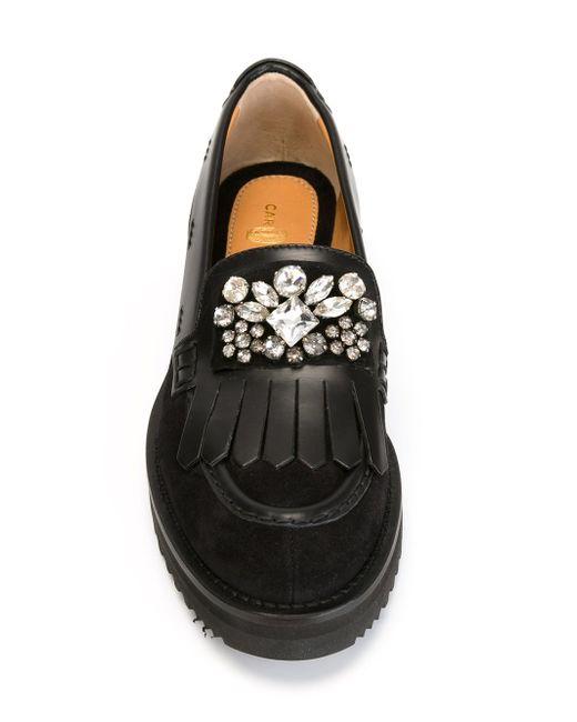 Embellished Fringed Loafers Carshoe                                                                                                              чёрный цвет