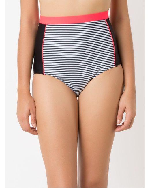 Panel Stripe Hot Pants Bikini Bottom BLUE MAN                                                                                                              белый цвет
