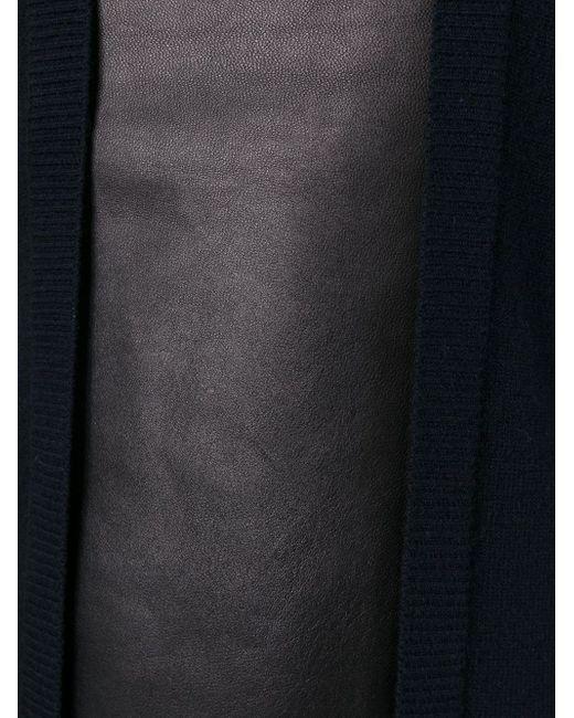 Свитер С Кожаной Панелью Pringle Of Scotland                                                                                                              синий цвет