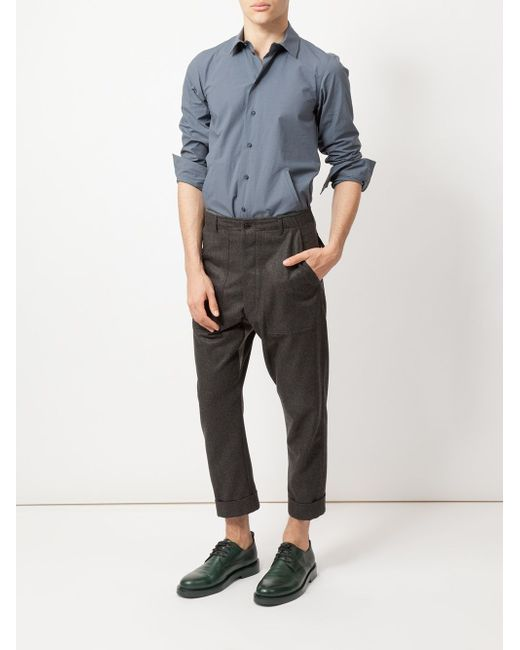 Cropped Chinos WOOSTER + LARDINI                                                                                                              серый цвет