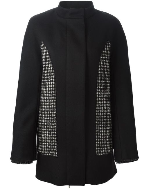 Пальто С Панельным Дизайном Moncler Gamme Rouge                                                                                                              чёрный цвет