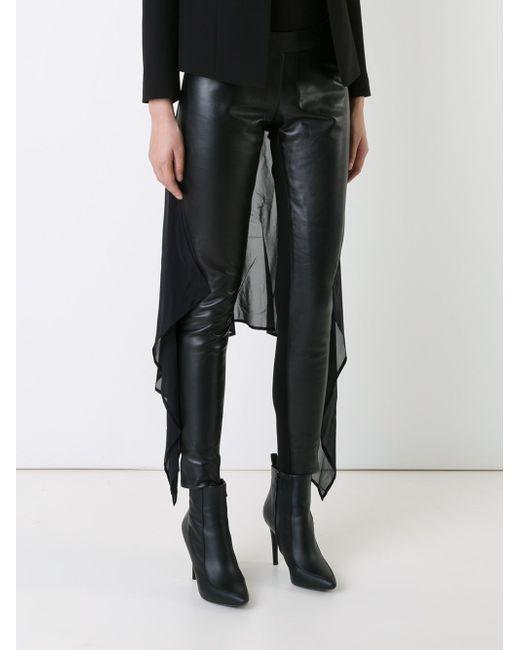 Chiffon Panel Skinny Trousers Gareth Pugh                                                                                                              чёрный цвет