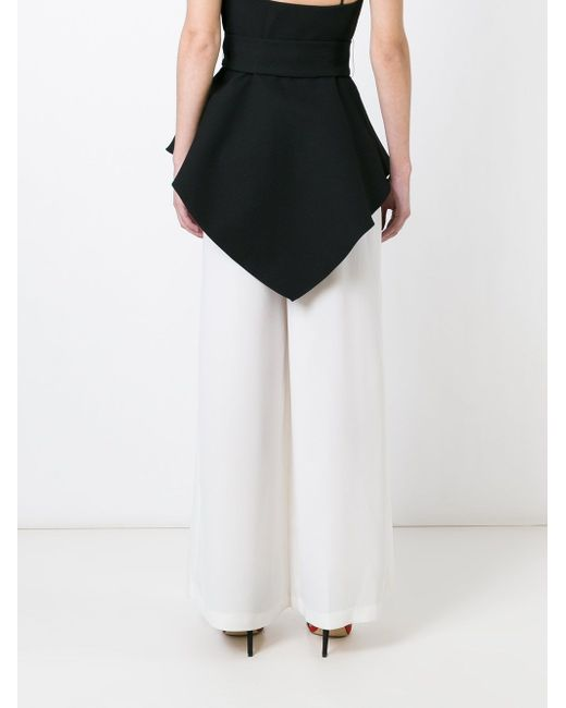 Wide Leg Pleated Trousers C/MEO                                                                                                              белый цвет