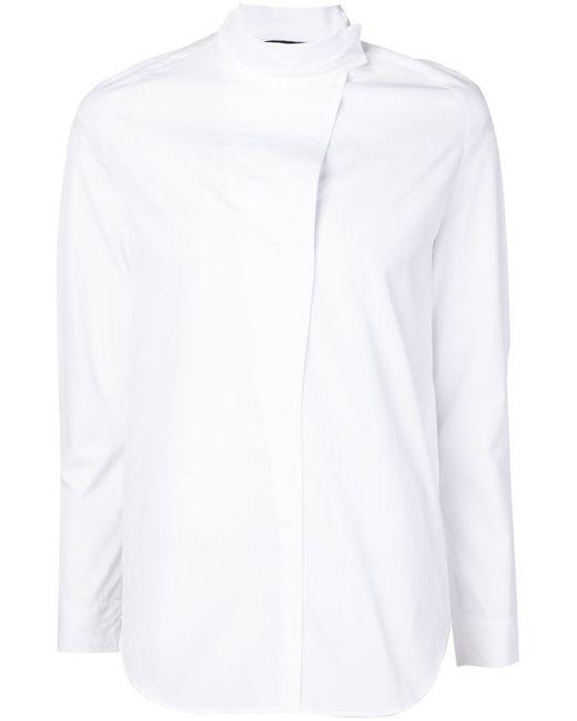 Cedric Charlier   Женская Белая Рубашка С Воротником-Стойкой