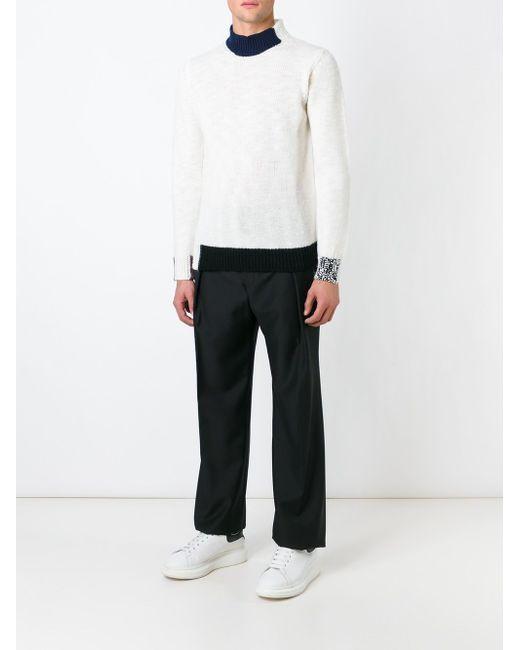 Contrasting Trims Sweater Raf Simons                                                                                                              белый цвет