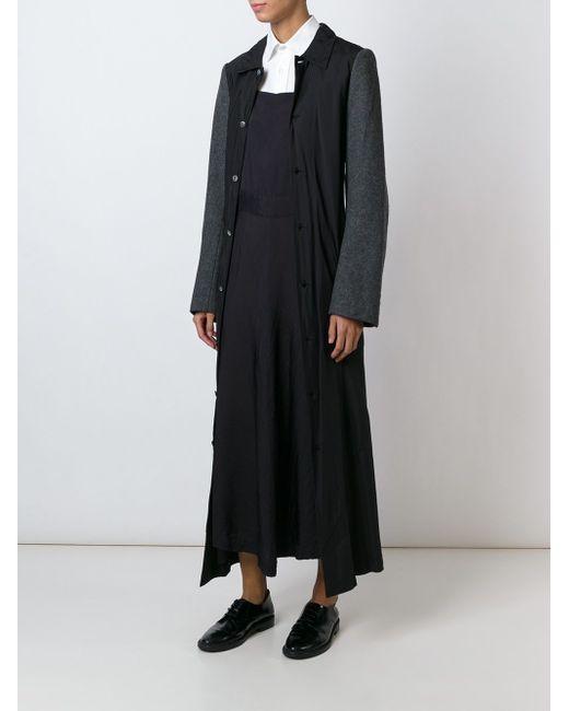 Пальто С Контрастными Рукавами Comme Des Garcons                                                                                                              чёрный цвет