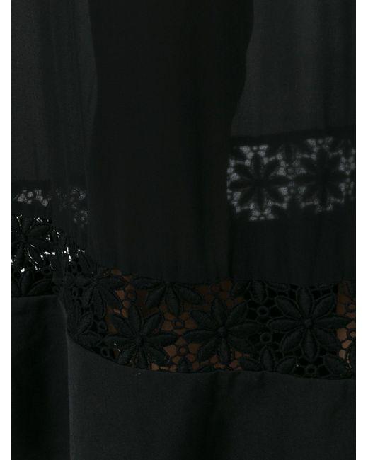 Удлиненное Платье-Рубашка Comme Des Garcons                                                                                                              чёрный цвет