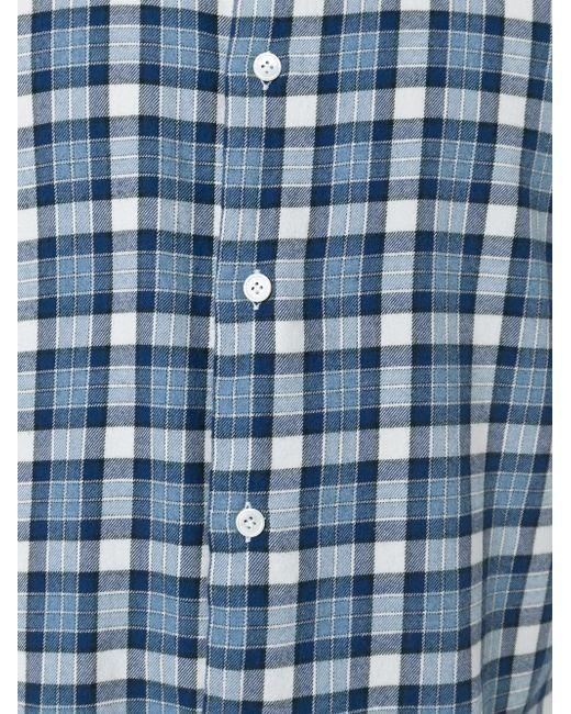 Checked Shirt Eleventy                                                                                                              синий цвет