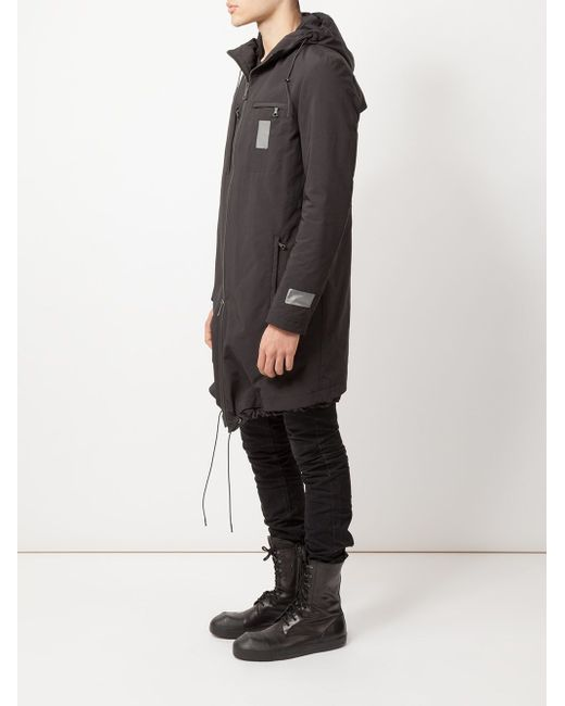 Hooded Parka Yves Salomon                                                                                                              чёрный цвет
