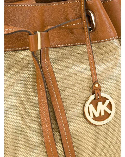 Большая Сумка-Мешок С Логотипом Michael Michael Kors                                                                                                              Nude & Neutrals цвет