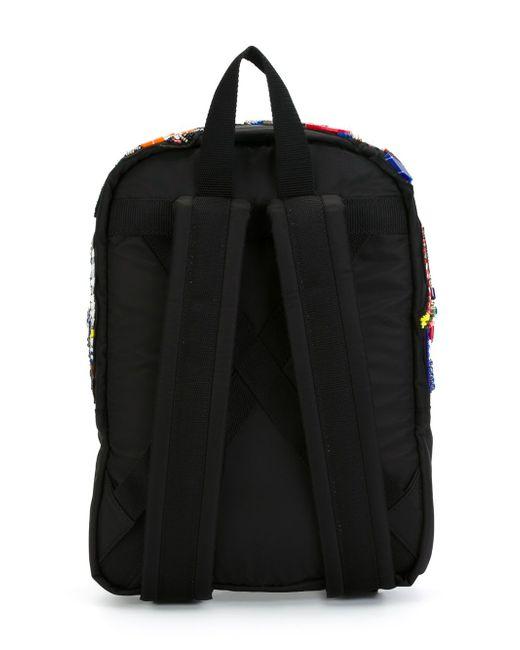 Embellished Patch Backpack MSGM                                                                                                              чёрный цвет