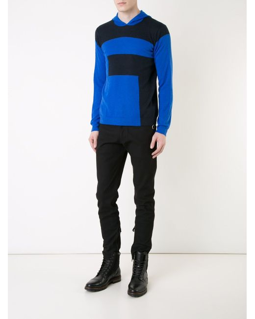 Colour Block Hooded Sweater T By Alexander Wang                                                                                                              чёрный цвет
