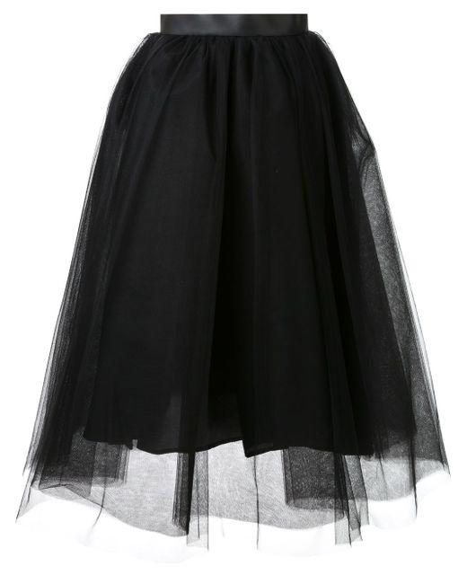 Tulle Flared Skirt LE CIEL BLEU                                                                                                              чёрный цвет