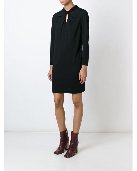 Платье С Перекрученной Деталью Aspesi                                                                                                              чёрный цвет