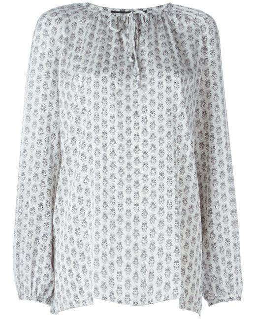 Блузка С Принтом Жуков Sly010                                                                                                              белый цвет