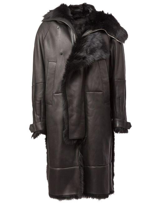 Hooded Coat JUUN.J                                                                                                              чёрный цвет