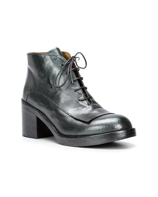 Ботинки На Шнуровке Officine Creative                                                                                                              зелёный цвет