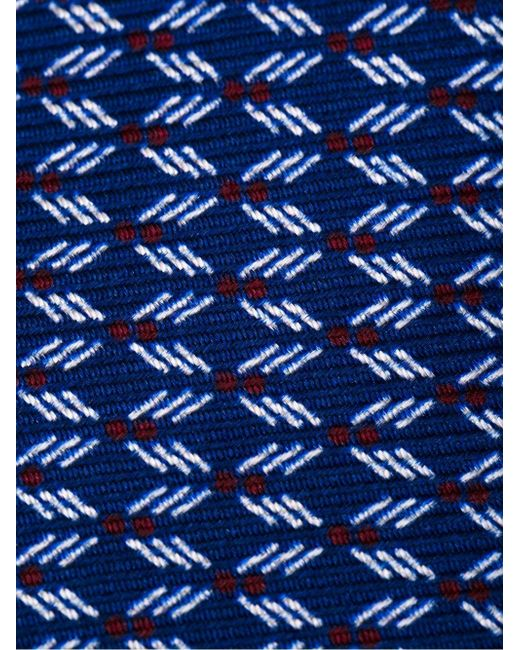 Галстук С Принтом Kiton                                                                                                              синий цвет