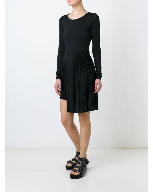 Pleated Dress MM6 by Maison Margiela                                                                                                              чёрный цвет