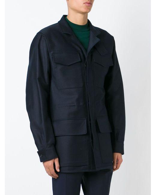 Пальто Falkland Jil Sander                                                                                                              синий цвет