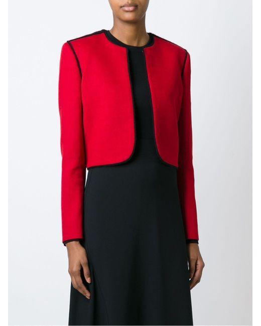 Укороченный Пиджак Lanvin                                                                                                              красный цвет