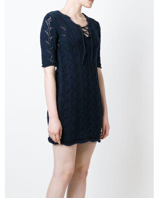 Ажурное Платье Со Шнуровкой Vanessa Bruno Athe'                                                                                                              синий цвет