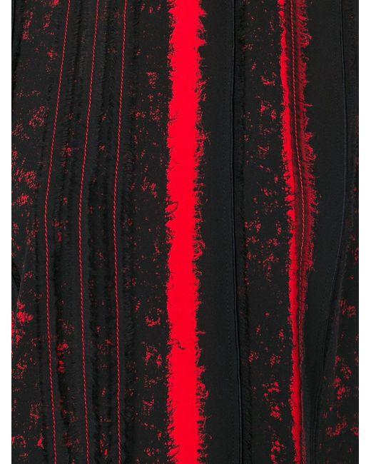 Полосатый Топ С Необработанными Краями Proenza Schouler                                                                                                              чёрный цвет