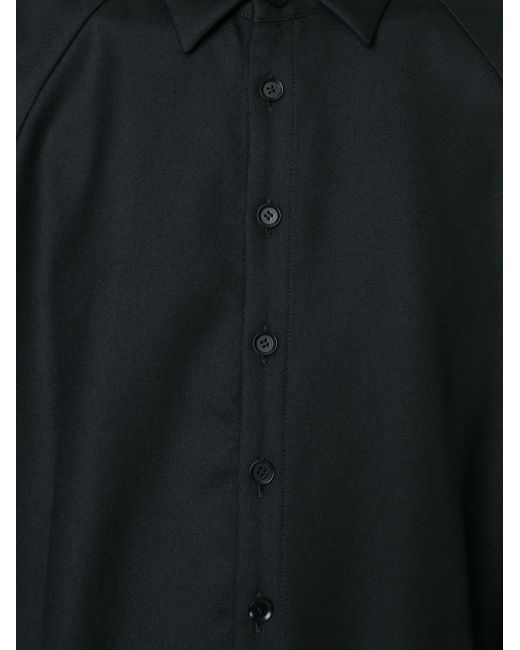 Асимметричное Платье-Рубашка Yohji Yamamoto                                                                                                              чёрный цвет
